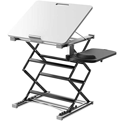 Laptop Stand Computer Laptop Holder, Standing Computer Rack Holder Notebook Stand Liftable Standing Office Desk Folding Table Heightening Bracket For Standing Desktop Computer Work Desk