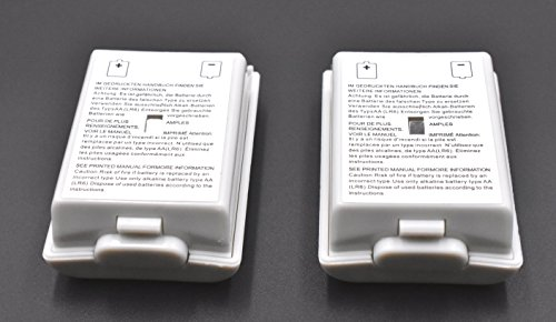 2pcs Battery Cover for Microsoft Xbox 360 Wireless Controller (White)