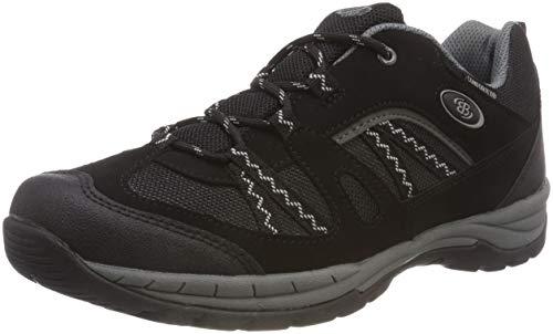 Brütting Fresno, Chaussures de Randonnée Basses Mixte, Noir (Schwarz/Grau Schwarz/Grau), 36 EU