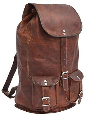 Gusti Leder U29 - Mochila de piel para portátiles, color marrón