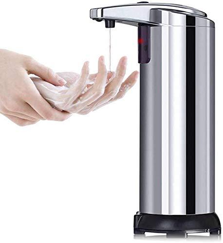 KANINO Dispenser Sapone Automatico con Sensore Infrarossi, 250ML Dispenser Gel Disinfettante Mani, Base Impermeabile, per Bagno Appropriato, Cucine, Hotel, Ristorante