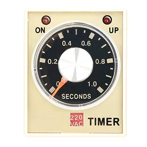 AH3-3 Retardo del temporizador de retardo, CA 220 V 50/60 Hz Relé del relé de tiempo de electricidad Interruptor de control del temporizador de retardo(1S)