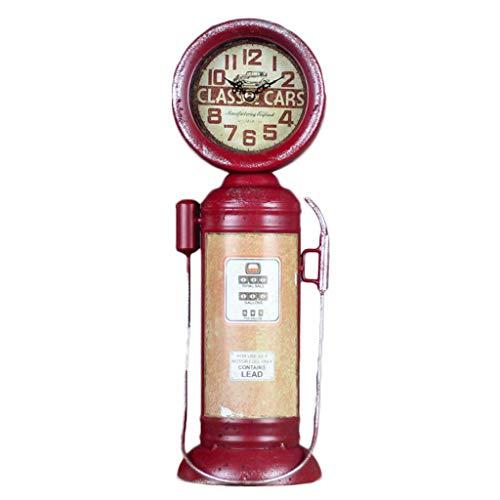 Cyt betoverende klok in pistoolvorm, stil, bureauklok, model geschenk, handwerk, zakhorloge, retro, decoratie, 36 cm hoog Rood