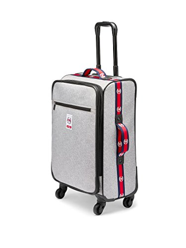 Victoria's Secret PINK Travel Carry-On VACAY READY Wheelie Suitcase - Light Gray Marl