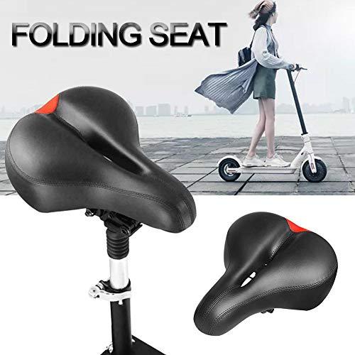 Ritapreaty Elektroroller Sitz, Skateboard Sattel Roller Faltbare Höhenverstellbare stoßdämpfende Klappsitz Stuhl für Xiaomi M365 Roller