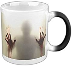 MHNS morphing mugs the walking dead Coffee Tea Milk Hot Cold Heat Sensitive Color changing Black and White 11 Oz coffee Mug
