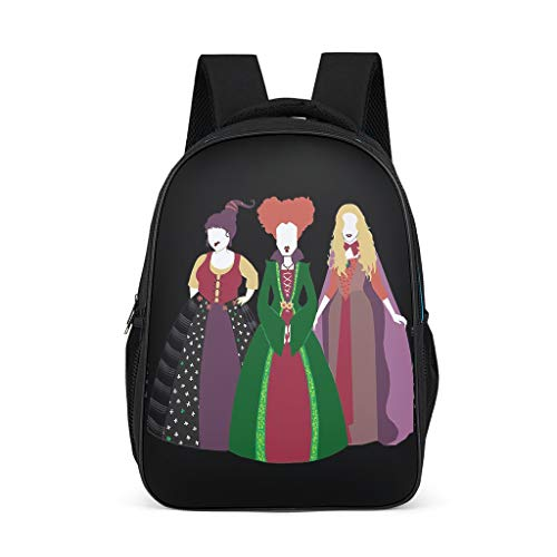 Mochila de alta calidad con tres hermanas de bruja para niños y niños