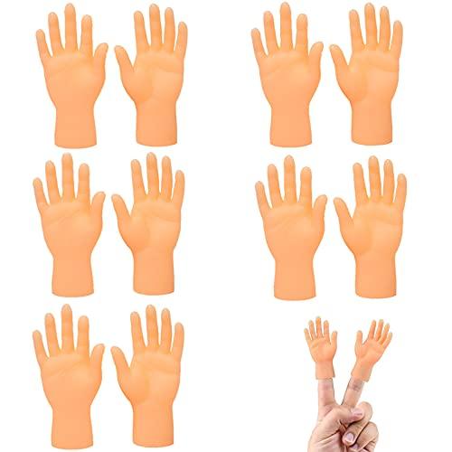 Marionetas De Dedo Dedos Mini Mano Diminuta Halloween Masaje Para Gatos 5 Pares De Cunas Para Dedos Divertidos Para Gatos Palmas PequeñAs De Masaje Suministros Divertidos Para El Ambiente De La Fiesta