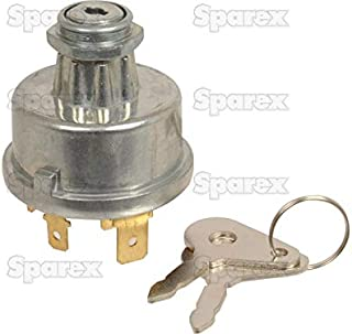 Case IH and International Harvester Tractor Ignition Key Switch w/ Pre-Heat - fits many Diesel with cold start
