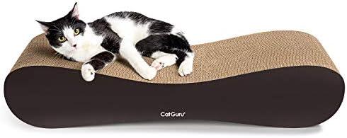 CatGuru Cat Scratcher XL Cat Scratching Post 27x10x5 in Premium Cat Scratch Pad Cardboard Cat product image