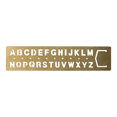 Midori Brass Template Alphabet (42169006)