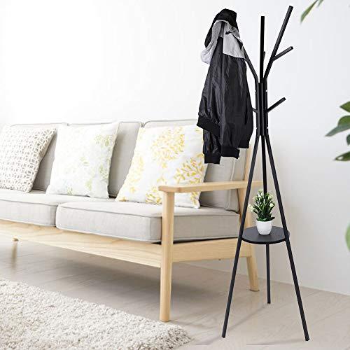 Cikonielf Perchero de Pie de Árbol 172 x 50cm, Perchero de Abrigos Colgador de Hierro para Sala de Estar, Entrada, Dormitorio