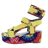 Nuevas Sandalias de Verano para Mujer, cuñas, Estampado étnico, Moda, Zapatos Casuales de Serpiente,de Mujer con Cordones, Sandalias de Playa de Talla Grande para Mujer mujer estilo