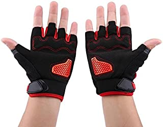 Daphot-Store - 1 Pair of microfiber leather Half Finger Breathable Gloves for Motorcycle Cycling Racing Outdoor Sports Universal M L XL