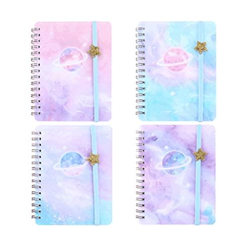 WPBOY Cuaderno Portátil Lindo Pequeño Diario Bobina Transparente Bloc De Notas Esmerilado Libro De Palabras Regalo De Cumpleaños (Color : 4 Books)
