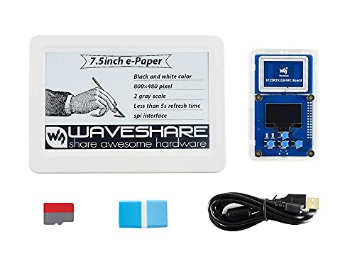 HEQIE-YONGP Pantalla de Tinta e- 7.5 Pulgadas Pasivo NFC Evaluación de E-Paper Kit de Evaluación, Sin batería, Potencia inalámbrica y Transferencia de Datos para Bricolaje