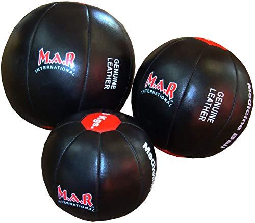 M.A.R International Ltd. Medizinbälle, Sport, Med Ball, Workout, Fitness, Training, 4 kg, Schwarz