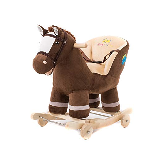 Lowest Prices! Baby Rocking Horse Child Comfortable Rocking Horse Stuffed Animal Horse Pretty Plush ...