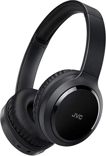 JVC Around Ear Noise Canceling Wireless Folding Headphone Black (HAS80BN)