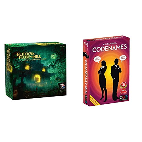 Avalon Hill Betrayal at House on the hill & Czech Games Edition Codenames Card Game