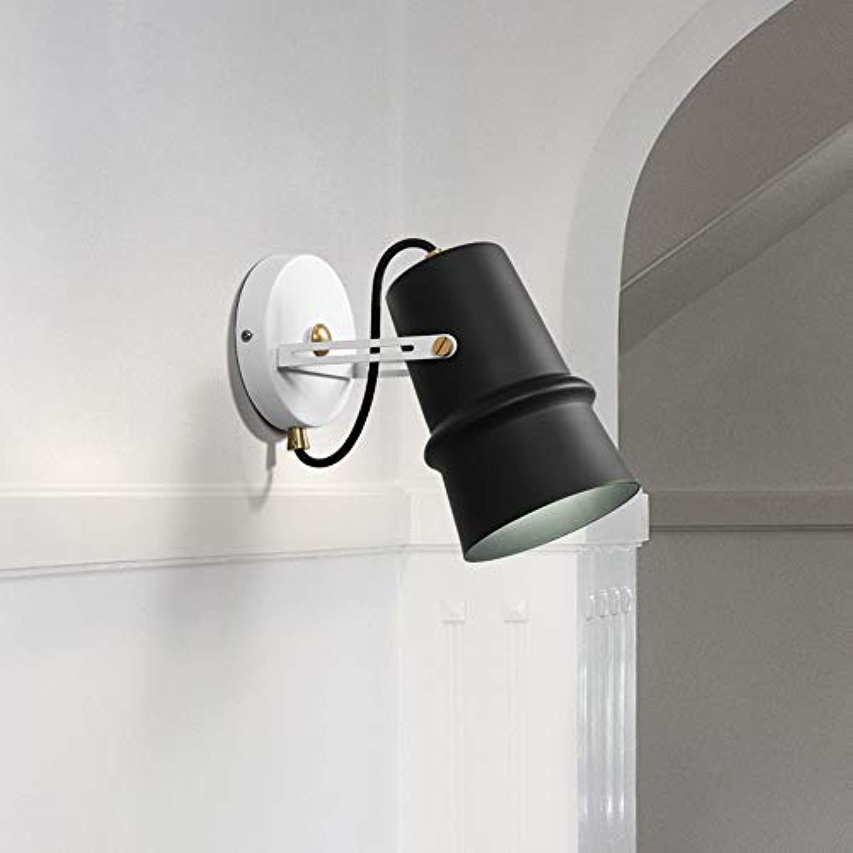 Moderne Wandlicht Schwarz Wall Wash Lights E27 Wandleuchte Eisen Wandlampe Geeignet für Wohnzimmer Arbeitszimmer Bibliothek Schlafzimmer Lesesaal Esszimmer Büro