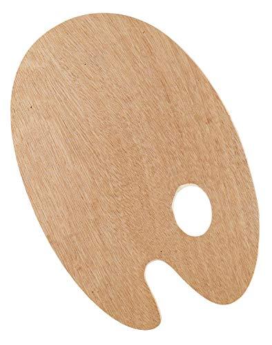 Kreul 41800 - Solo Goya Holzpalette aus Buchenholz, oval ca. 20 x 30 cm groß, 5 mm stark, dreifach verleimt, Oberfläche lackiert, universell einsetzbar für Öl- und Acrylmalerei
