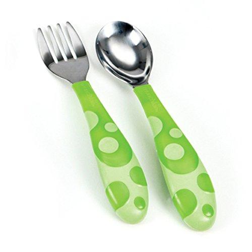 Comida Cuchara y Tenedor de cubertería infantil bebé alimentación Munchkin 12m + verde verde