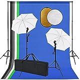 Susany Kit Estudio fotográfico lámparas sombrillas Fondo y Reflector 1# Juego de Estudio fotográfico Profesional, lámpara de Estudio Set para Estudio fotográfico y producción de vídeo
