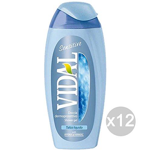 Juego 12Vidal ducha 1222Talco líquido Sensitive 250Cuidado y limpieza del cuerpo