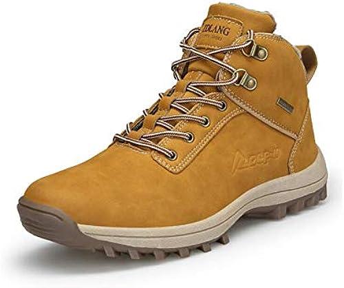 YAXUAN Laufschuhe Herrenschuhe, Outdoor-Baumwollschuhe Herren Britischer Trend Hoch, um Sportschuhen zu helfen (Farbe   F, Größe   42)