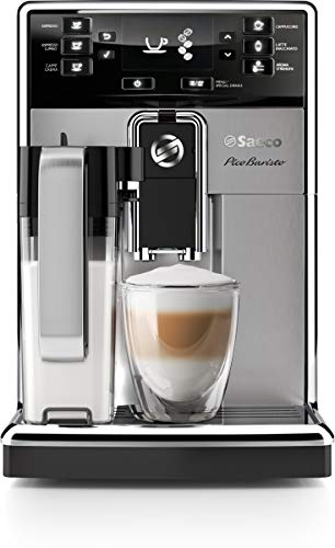 Saeco picobaristo super automatic espresso machine, 1. 8 l, stainless steel, hd8927/47 1 easily select one of 15 delicious drinks, or customize it to your taste with coffee equalizer and save it to one of 6 user profile our patented aquaclean water filter eliminates the need to descale for up to 5,000 cups get superior taste for 20,000 cups with our durable ceramic grinders