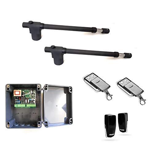 Kit Instalmatic BAT 400 motor doble puerta batiente. Kit completo motorización cancela batiente de 2 hojas, calidad profesional.