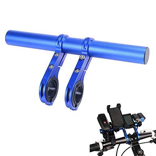 auvstar Fahrradlenker Extender, Fahrradzubehör Extenderhalterung, Mountainbike-Tachometer, LED-Lichthalterung GPS-Telefonhalterung, leichte, robuste Aluminiumlegierung, Raumwunder (Blau)