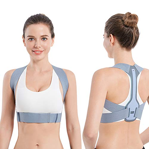 Posture Corrector for Women and Men, Upper Back Brace Straightener Posture Corrector for Clavicle Chest Support and Adjustable Back Posture Brace - Providing Neck, Back and Shoulder Straight(M 28-34 lnch)