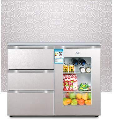JDLP 220V 130W 210L Domestica Orizzontale Frigorifero Cucina Console Tre cassetto Aperto Porta del Frigorifero,A