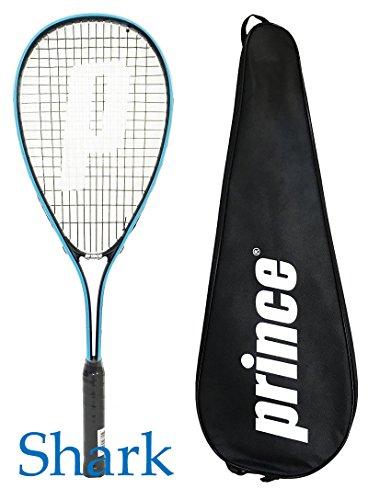 Prince - Raqueta de squash con funda completa (elección de Warrior, Beast, Rebel, Vortex y Shark), color tiburón, tamaño Shark