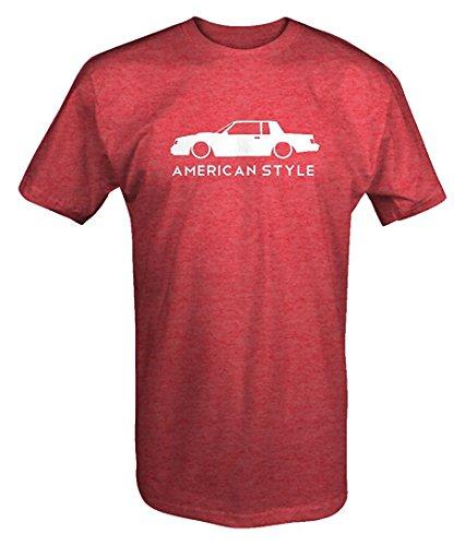 Lum-tshirt American Style Buick Grand National Turbo GNX Lowered Racing T Shirt