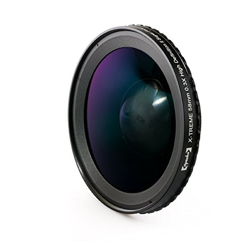 Opteka 58mm 0.3X HD2 X-TREME Super Fisheye Lens for Professional Camcorders