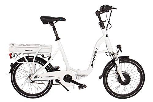 Provelo E-Bike Elektrofahrrad / Fahrrad / Stadtrad, weiß, 7 Gang Nabenschaltung, (20 Zoll)