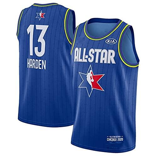 Rockets # 13 Harden Jersey Jersey Retro Basketball Jersey Sin Mangas Camisetas Ropa para Fiesta,Azul,S