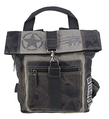 Sunsa Rucksack Damen/Herren große Backpack Ranzen Daypack Retro Tasche Vintage Studententasche Schultasche Schulranzen Herrentasche Damentasche Tagesrucksack Damenrucksack
