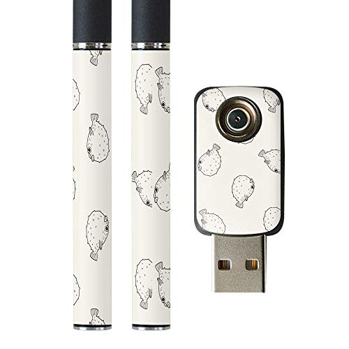 igsticker プルームテック Ploom TECH 専用スキンシール バッテリー スティック USB充電器 カバー ケース 保護 フィルム ステッカー スマコレ 010681 魚 海 生き物