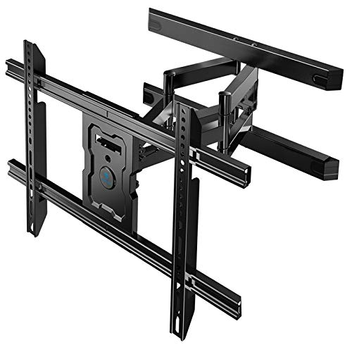 PERLESMITH Full Motion TV Wall Mount for 37-80 Inch Flat Curved TVs with Smooth Tilts Swivel & Extends - Dual Articulating Arms Wall Mount TV Bracket Supports TVs up to 132 lbs Max VESA 600x400 PSLFK5
