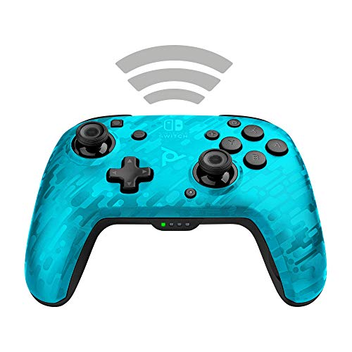 PDP Controller Faceoff Deluxe+ Audio Wireless Switch Camo Blu