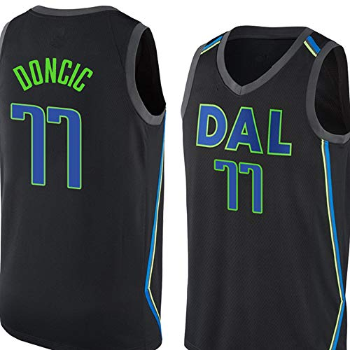 Dongcic # 77 basketbalshirt # 41 City borduurwerk teamkleding trainingskleding tanktops wedstrijden uniform fan cadeau, zwart S-2XL