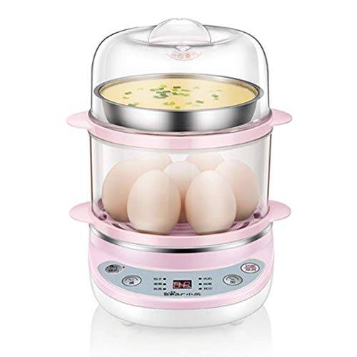SFSGH Egg Cooker, 360W Egg Maker, Electric Egg Boiler with Steamer Bowl and Measuring Cup, 14 Eggs Capacity, Automatic Shut Off