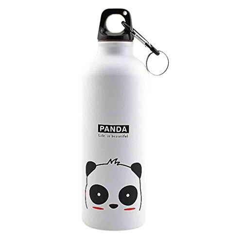 Bobury 500ml animali belli sport esterni portatili della bottiglia in lega di alluminio bambini bottiglia di acqua del fumetto modello animale bollitore
