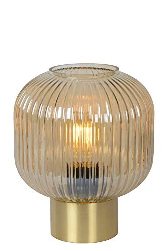 Lucide 45586/20/62 tafellamp, glas, 40 W, barnsteen, mat