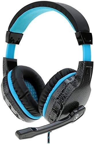 XXT Esport Juego Gaming Headset Over-Ear Headset Con Micrófono Auriculares Auriculares Bajo Estéreo Para PC Ordenador Portátil Tablet Notebook (negro)