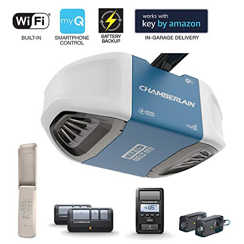 Chamberlain Group Chamberlain B970 Smartphone-Controlled Ultra-Quiet and Strong Belt Drive Garage...